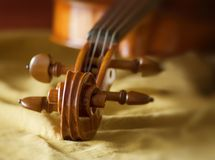 宏观小提琴 免版税库存照片