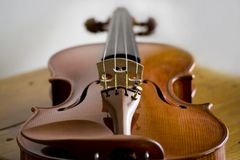 宏观小提琴 免版税库存图片