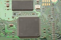 宏观微芯片pcb 库存图片