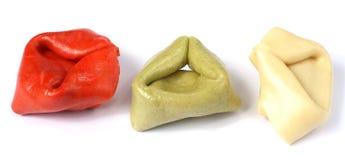 宏观意大利面食轰击意大利式饺子 免版税图库摄影