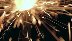 宏观灼烧的闪烁发光物 股票视频