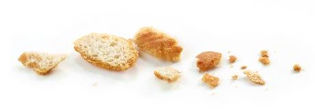 宏观的面包屑 库存照片