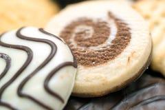 宏观的饼干 库存照片