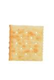 宏观盐味的薄脆饼干 库存图片