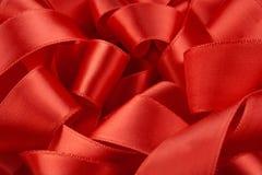 宏观红色丝带 库存照片