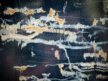 宏观纹理-金属-损坏的油漆 免版税图库摄影