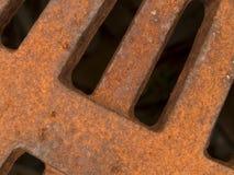 宏观纹理-金属-生锈的花格 免版税库存照片