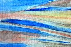 宏观蓝色和橙色水彩10 库存照片