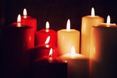 宏观蜡烛光集合 库存图片