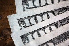宏观金钱美国人的关闭 免版税库存图片