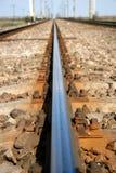 宏观铁路轨道 免版税库存照片