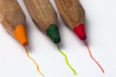 宏观铅笔和画了线 库存图片