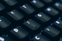 宏观键盘键背景 免版税库存照片