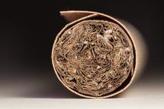 宏观雪茄纹理 免版税库存图片