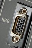 宏观面板rgb录影视图 免版税库存照片