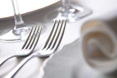宏观餐位餐具 库存图片