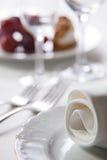 宏观餐位餐具 免版税库存照片