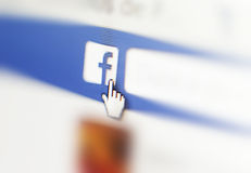 宏观Facebook 免版税库存照片