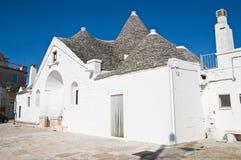 宗主trullo。 Alberobello。 普利亚。 意大利。 库存照片