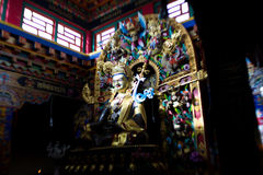 宗师仁波切或Padmasambhava雕象 免版税库存照片