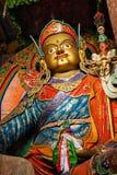 宗师Padmasambhava,拉达克,印度雕象  免版税库存图片