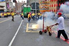 宗教仪式在台湾 免版税库存照片