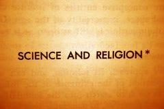 宗教信仰科学 库存图片