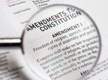 宗教信仰自由在宪法的单 库存图片