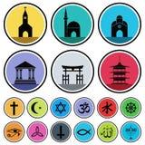 宗教图标 库存照片
