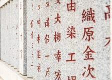 宗教墙壁在Shibamata 免版税图库摄影