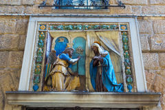 宗教墙壁安心在佛罗伦萨,意大利 免版税库存图片