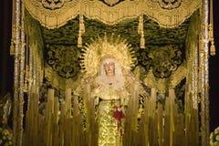 宗教宽容雕象在塞维利亚大教堂,南西班牙里被看见 免版税库存照片