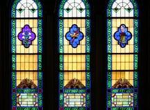 宗教彩色玻璃Windows 免版税图库摄影