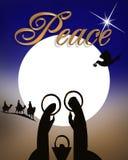 宗教抽象圣诞节诞生 免版税库存照片