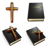 宗教概念-套3D例证 免版税库存图片