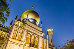 宗教清真寺夜视图  免版税图库摄影