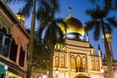 宗教清真寺夜视图  图库摄影