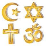 宗教符号 库存图片