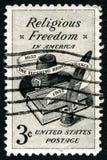 宗教自由美国邮票 免版税库存照片