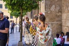 宗教节日de科多巴或科多巴市场在科多巴,西班牙 库存图片