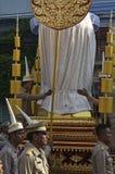 宗教队伍在泰国 免版税库存图片