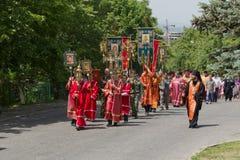 宗教队伍在Pyatigorsk。 免版税库存图片