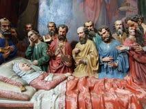 宗教雕塑在康斯坦茨大教堂里  免版税库存照片