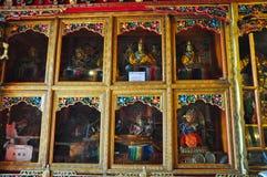 宗教雕象在哲蚌寺 免版税图库摄影