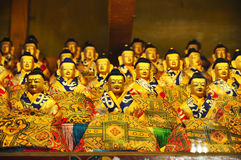 宗教雕象在哲蚌寺 图库摄影