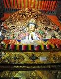 宗教雕象在哲蚌寺 库存照片