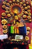 宗教雕象在哲蚌寺 免版税库存图片