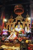 宗教雕象在哲蚌寺 库存图片