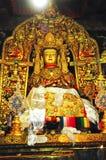 宗教雕象在哲蚌寺 免版税库存照片