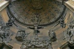 宗教雕刻家艺术圣伯多禄教会,维亚纳 图库摄影
